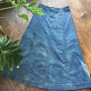 Soft Surroundings high waisted vintage denim skirt